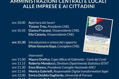 Il Prof. Enrico DEIDDA GAGLIARDO illustrerà il modello del Valore Pubblico contenuto nella relazione annuale del CNEL