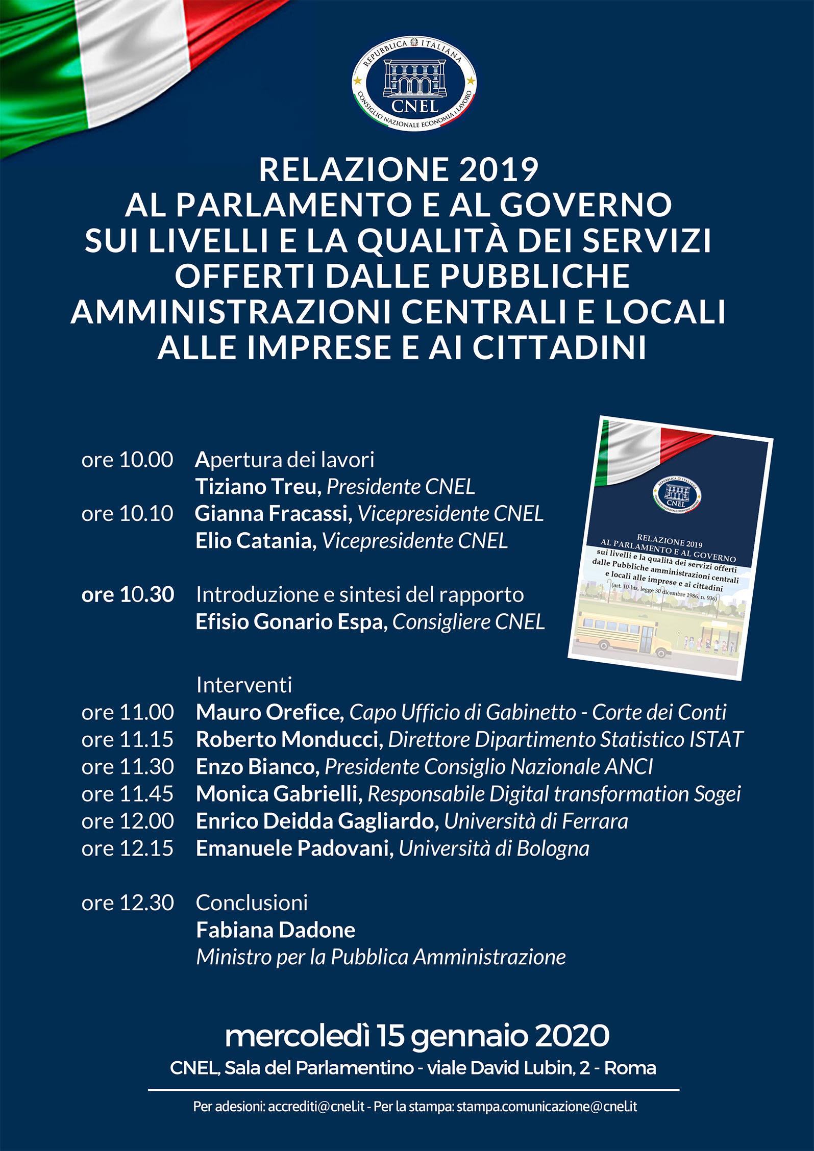 Il Prof. Enrico DEIDDA GAGLIARDO illustra il modello del Valore Pubblico contenuto nella relazione annuale del CNEL