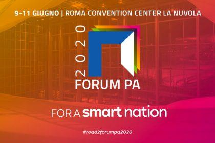 """Save the date - 9, 10 e 11 Giugno 2020 """"ForumPA 2020 for a smart nation"""""""