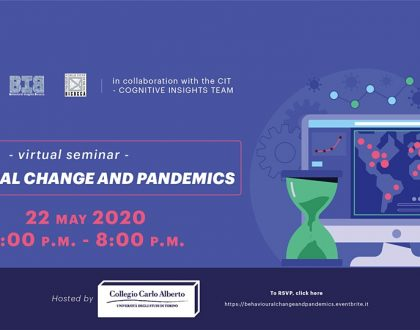 "Virtual Seminar: ""Behavioural Change and Pandemics"""
